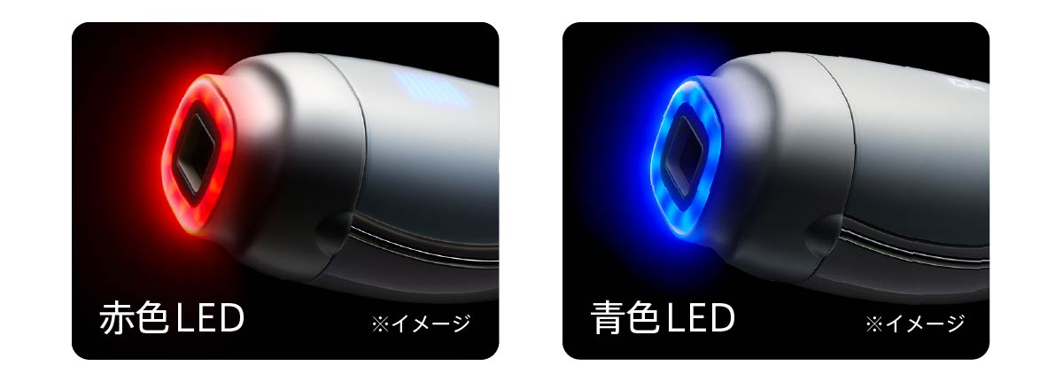 赤色/青色LED